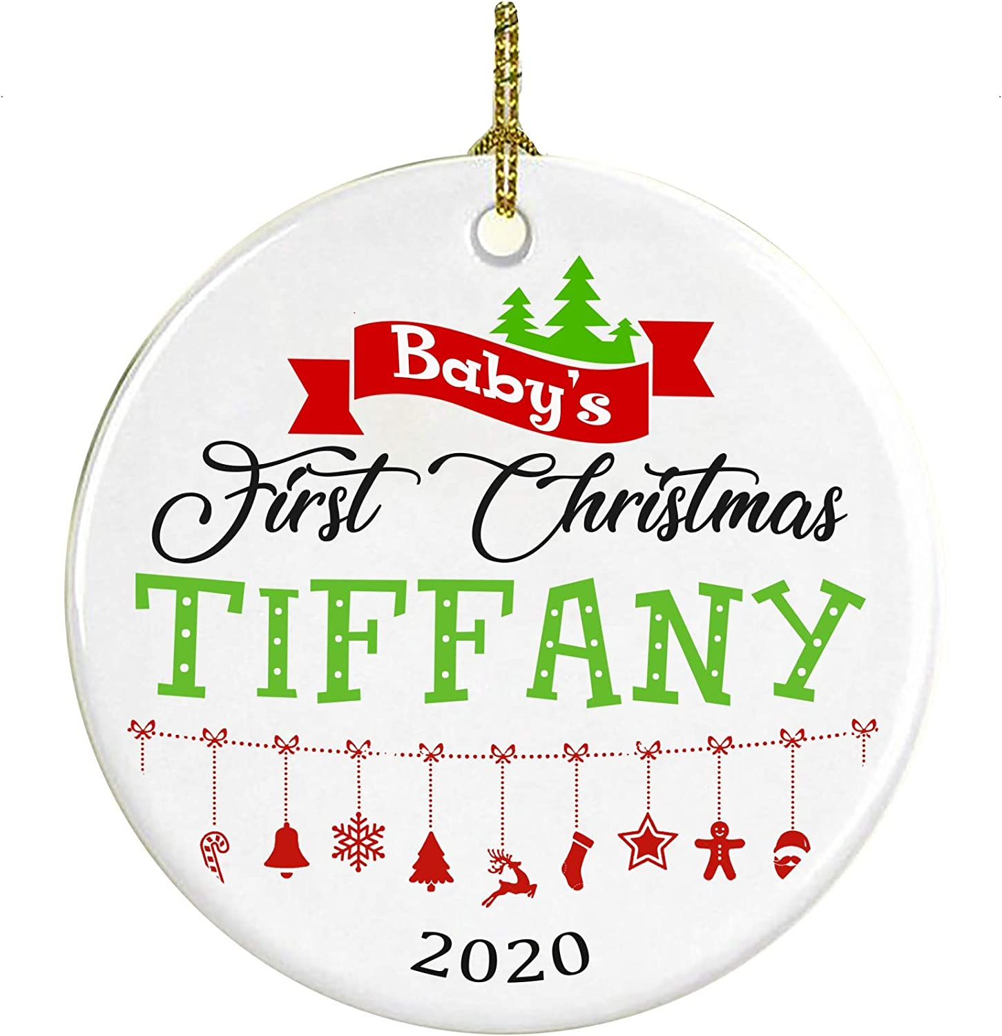 Amazon.com: Christmas Tree Ornament Decoration Baby First