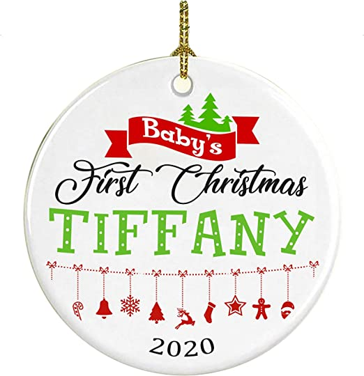 Tiffanys Babys First Christmas Ornament 2020 Amazon.com: Christmas Tree Ornament Decoration Baby First