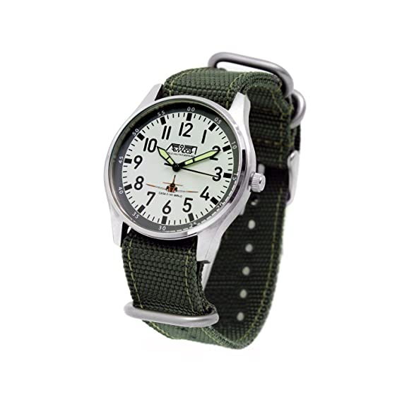 Reloj AVIADOR Mirlo AV-1147 - Reloj juvenil con esfera blanca de 38 mm,