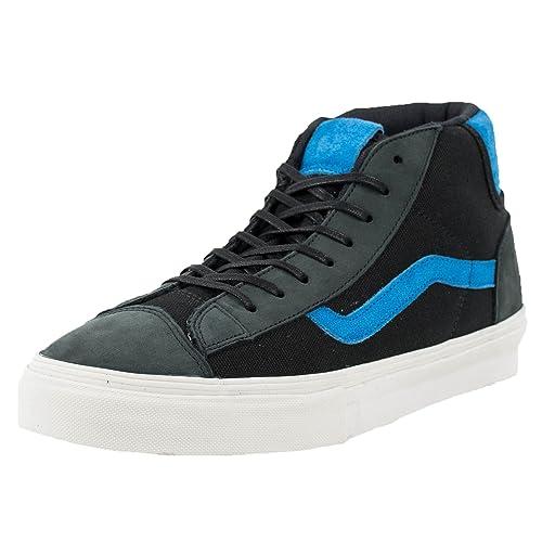 4c2904ca88 Vans MID Skool 77 LX Italian Leather Black Skydive Blue VN-0INT68D SZ 12   Amazon.ca  Shoes   Handbags