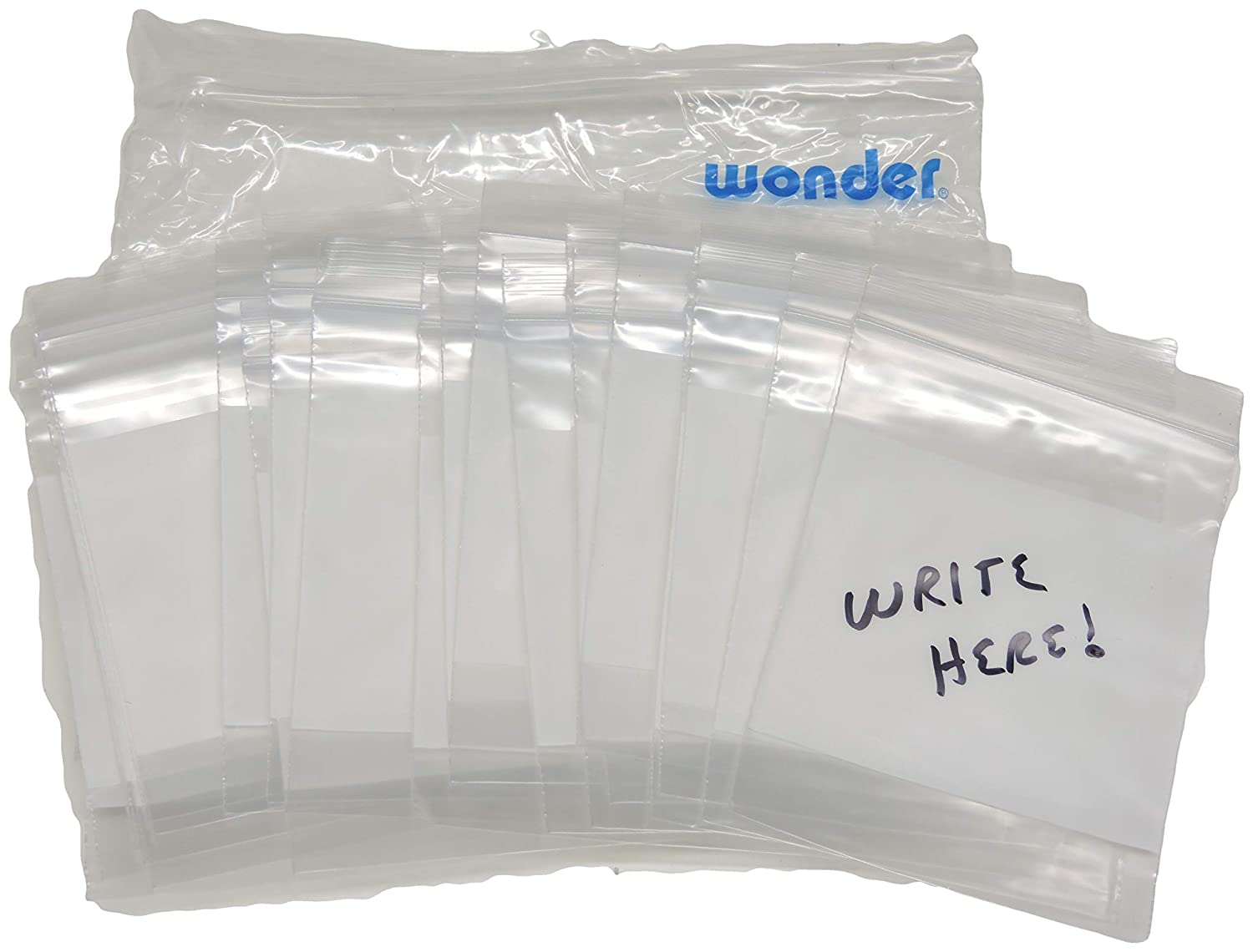 "3/"" x 4/"" Reclosable Plastic Poly bags Ziplock 2mil LDPE FOOD GRADE Qty 300"