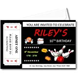Invites Girl Complete with envelopes Ref B66 1st 2nd 3rd 4th 5th 6th 7th 8th 9th 10th Birthdays 20 Boy Personalised Bowling Birthday Party Invitations