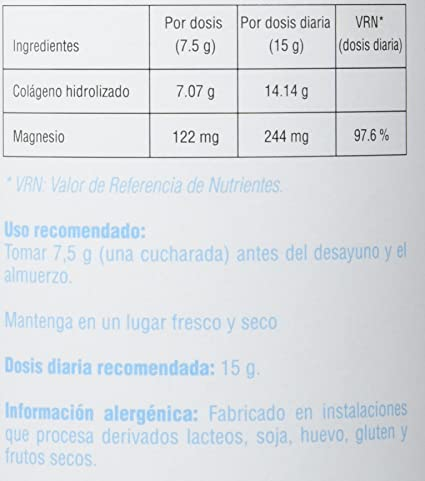 Smart Supplements Colágeno y Magnesio Suplemento - 350 gr: Amazon.es: Salud y cuidado personal
