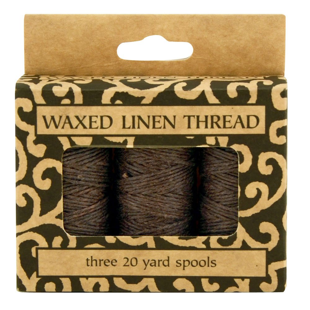 Lineco Waxed Genuine Linen Thread, 20 Yards, Pack of 3 Spools: Brown (BBHM210) 5221889