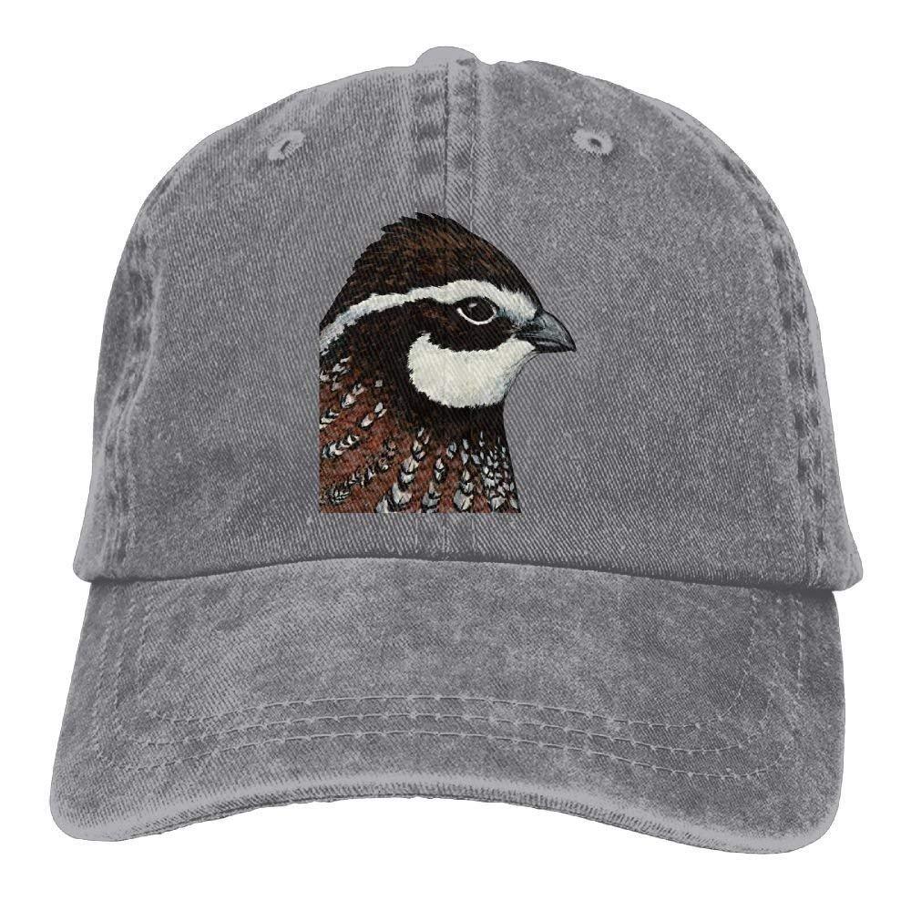 JTRVW Bobwhite Quail Trend Printing Cowboy Hat Fashion Baseball Cap for Men and Women Black