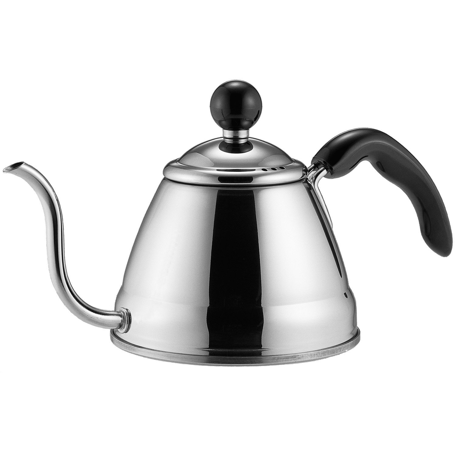 Fino 6576 Pour Over Coffee and Tea Kettle, 4 1/4-Cup, Silver