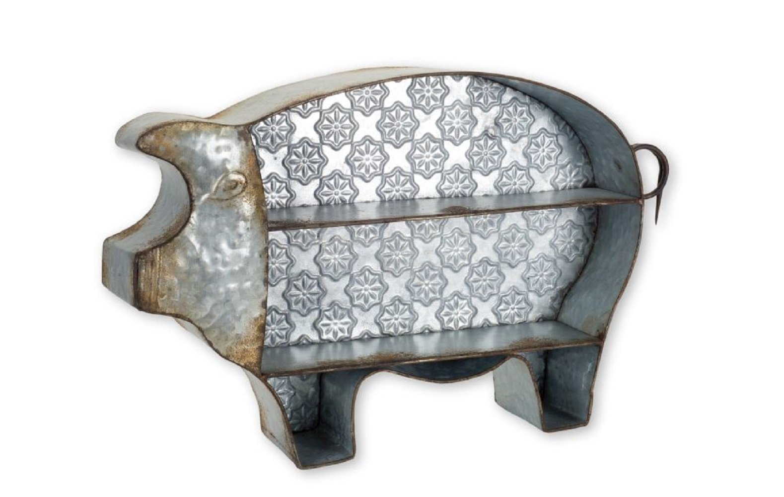 Melrose Pig Divided Tray 25 inches x 15.5 inches Metal