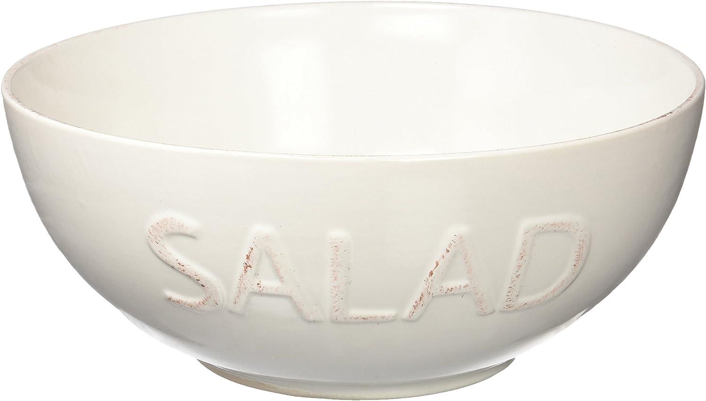 Ceramica Beige 25.5 cm VERSA 10590439 Ciotola per Insalata