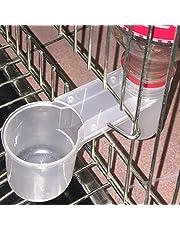 Gemini _ Mall Distributeur d'eau/Abreuvoir en plastique avec bol pour oiseau