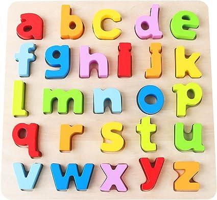 Kids Building Blocks Cart Toy Wooden Alphabet ABC Educational Boy Girl New