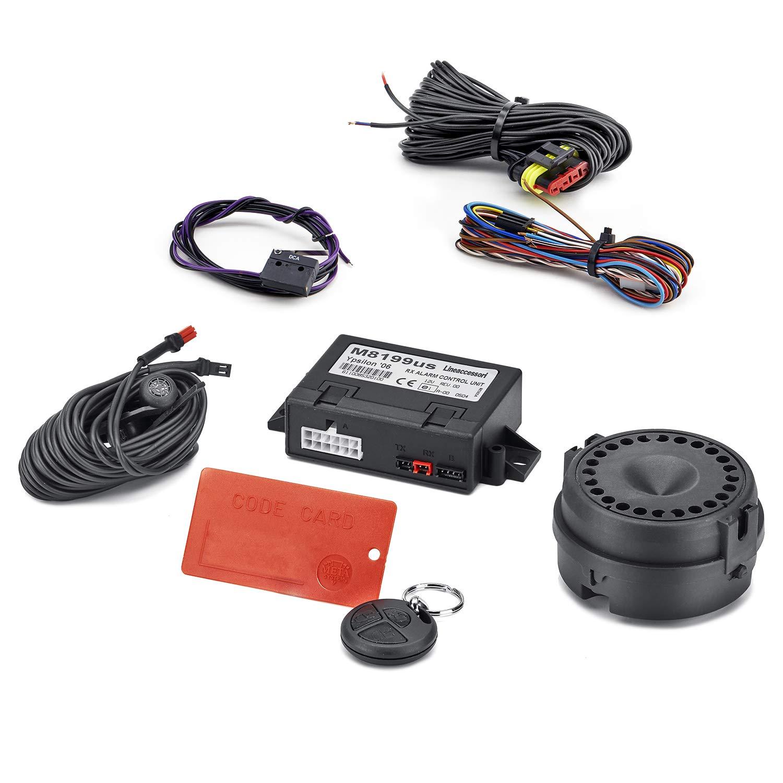 ECD Germany 4 x Cepo para neum/áticos Candado inmovilizador de neum/áticos Dispositivo antirrobo para automoviles Ajustable 17-26cm 6 3//4-10 1//2 Contiene una cerradura y 2 llaves