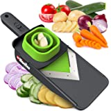 Mueller Handheld Vegetable V Slicer Salad Utensil, Perfect for Salad Zucchini Carrots Onions and All Vegetables, Make…