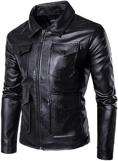Veste motard cuir synthétique Homme | Vestes & Manteaux