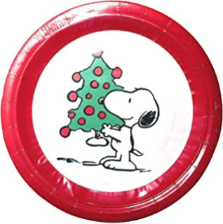 Graphique Snoopy Wreath Set 16 Dessert Salad Coated Plates 7