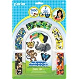 Perler Beads 'Jungle Animals' Fuse Bead Activity Kit for Kids Crafts, 2004 pcs