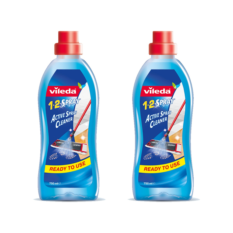 Vileda Detersivo per Pavimenti 1-2 Spray, Confezione da 2, 750 ml, (Versione Inglese) 149888