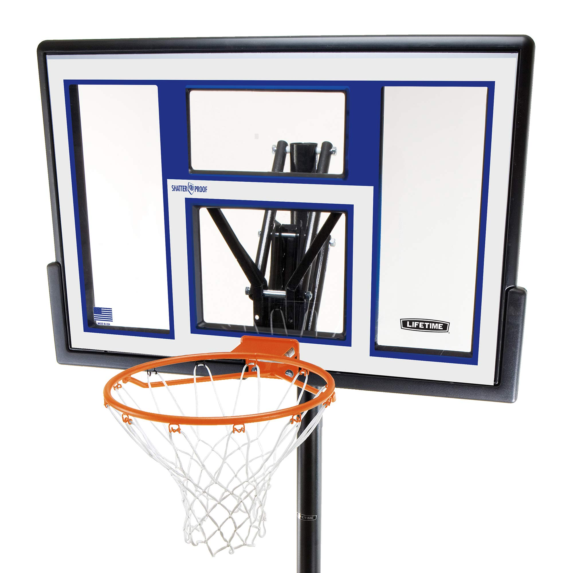 Lifetime Portable Basketball Hoop 90168 48-inch Polycarbonate Backboard System by Lifetime (Image #2)