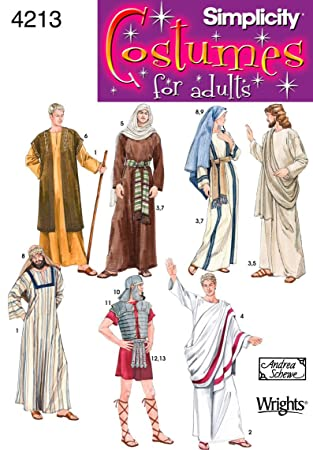 Amazon.com: Simplicity Sewing Pattern 4213 Adult Costumes, A (XS ...