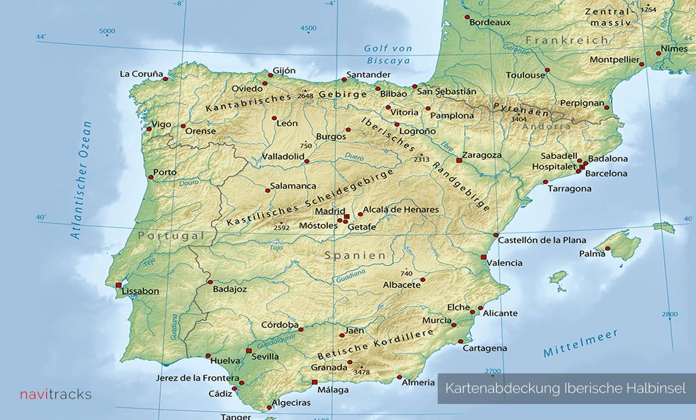 Carte Portugal Espagne France.Peninsule Iberique Garmin Carte Topo 4go Carte Espagne