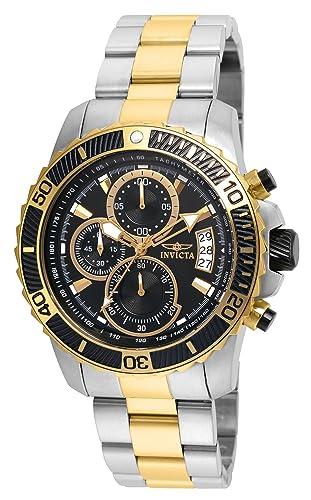 Invicta 22418 Pro Diver - Scuba Reloj para Hombre acero inoxidable Cuarzo Esfera negro: Amazon.es: Relojes