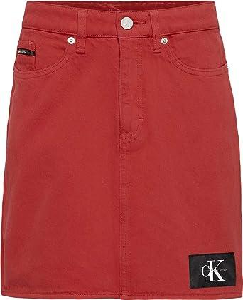 9581386ca6 Calvin Klein Straight Skirt for Women - Red, Size 25 EU: Amazon.ae