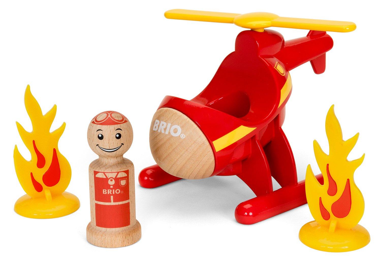 Brio Rescue Helicopter Preschool Toy