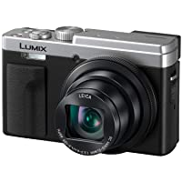 Panasonic LUMIX ZS80 20.3MP Digital Camera, 30x 24-720mm Travel Zoom Lens, 4K Video, Optical Image Stabilizer and 3.0-inch Display – Point & Shoot Camera with Lecia Lens- DC-ZS80S (Silver), Black