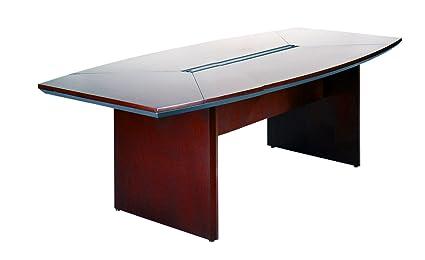 Amazoncom Mayline CTCMAH Napoli W X D BoatShaped - D shaped conference table