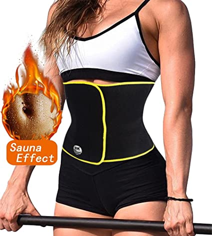 f6ca4de8ef2 Image Unavailable. Image not available for. Color  Lelinta Hot Sweat Weight  Loss Neoprene Workout Top Shirt Waist Trainer Corset Trimmer Belt Body  Shaper