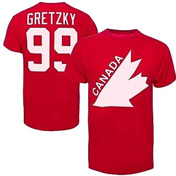 the best attitude 90283 b93ca Men's Team Canada Wayne Gretzky Vintage Retro Name & Number ...