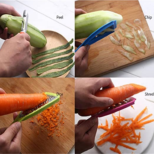 1x Fruit Slices Potatoes Apple Peeling Nife Multifunctional Peeler Kitchen Tools