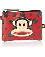 Paul Frank Glitter Black Dots Wallet - Red