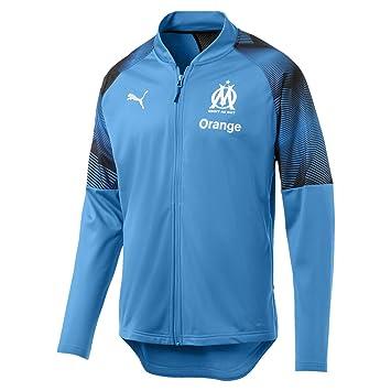 Puma Olympique de Marseille Poly Jacket Sponsor Logo with Zi Chaqueta De Entrenamiento, Hombre: Amazon.es: Deportes y aire libre