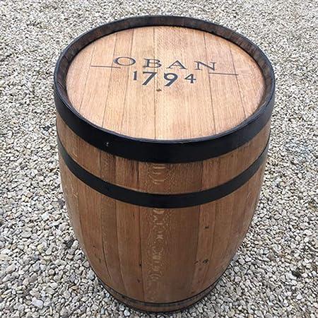 Cheeky Chicks Roble Macizo Reciclado Whisky Barril Oban Patio Mesa ...