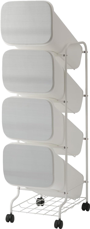リス ゴミ箱 smooth スタンドダストボックス4Pスリム 20L×4 メタル B019XESKIM メタル メタル