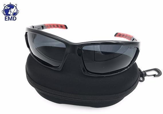 Lunettes de soleil Sport, Polarisées UV 400 - Incassable - Homme pour VTT, Ski, Trail, Pêche, Golf, Moto TT, Quad, SSV et autres Activités en extérieur