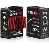 2 Stück Wicked Chili Akku für GoPro Hero 3+/Hero 3 – Black/White/Silver Edition [ersetzt AHDBT-302/AHDBT-301] (ProSeries, 1180mA, 3,7Volt, 4,37Wh, je Akku bis zu 118 Minuten Videoaufnahme)