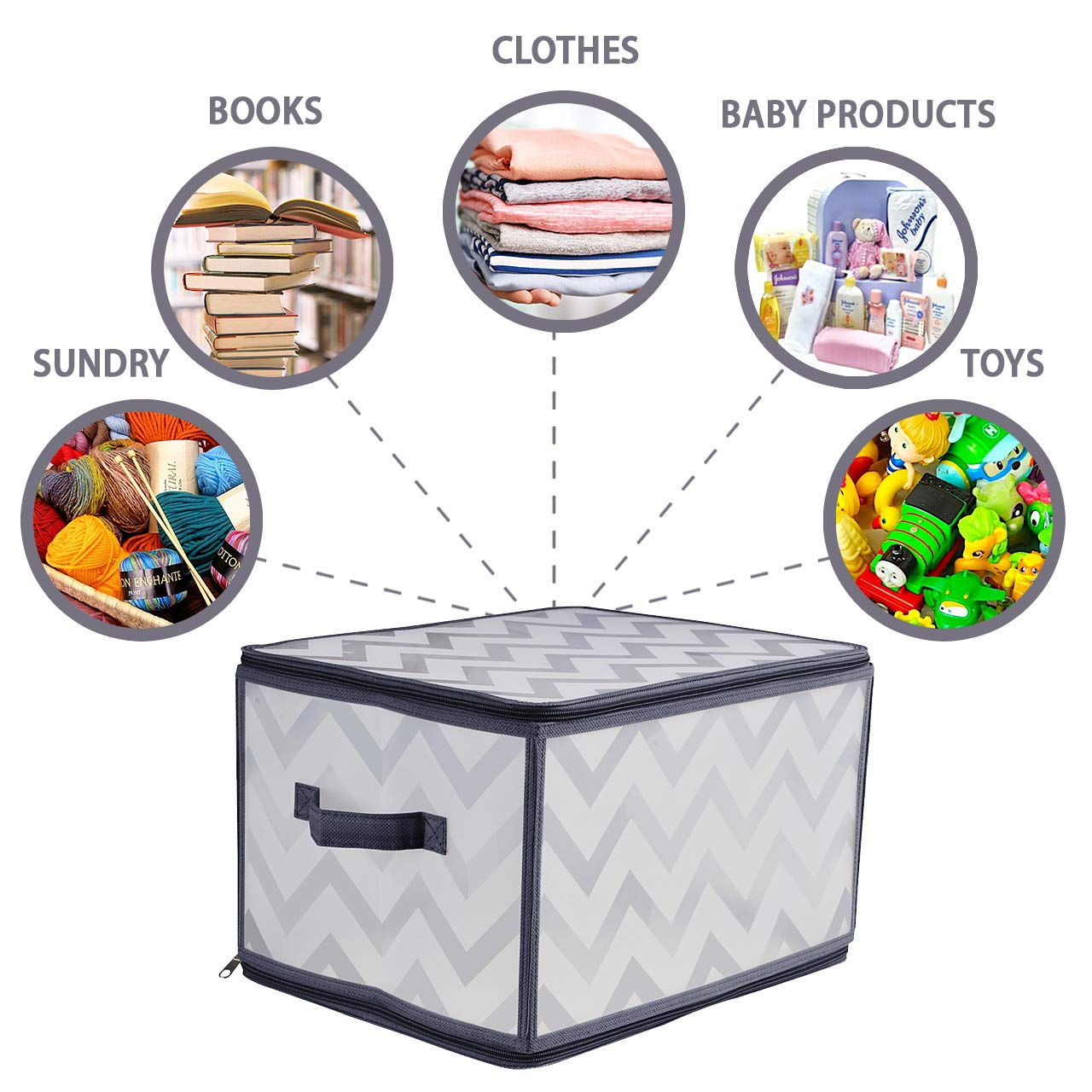 Collapsible Bins Baskets Box Cube for Home Closet Nursery Organizer Storage Container Medium 3 Pack BrightyHome