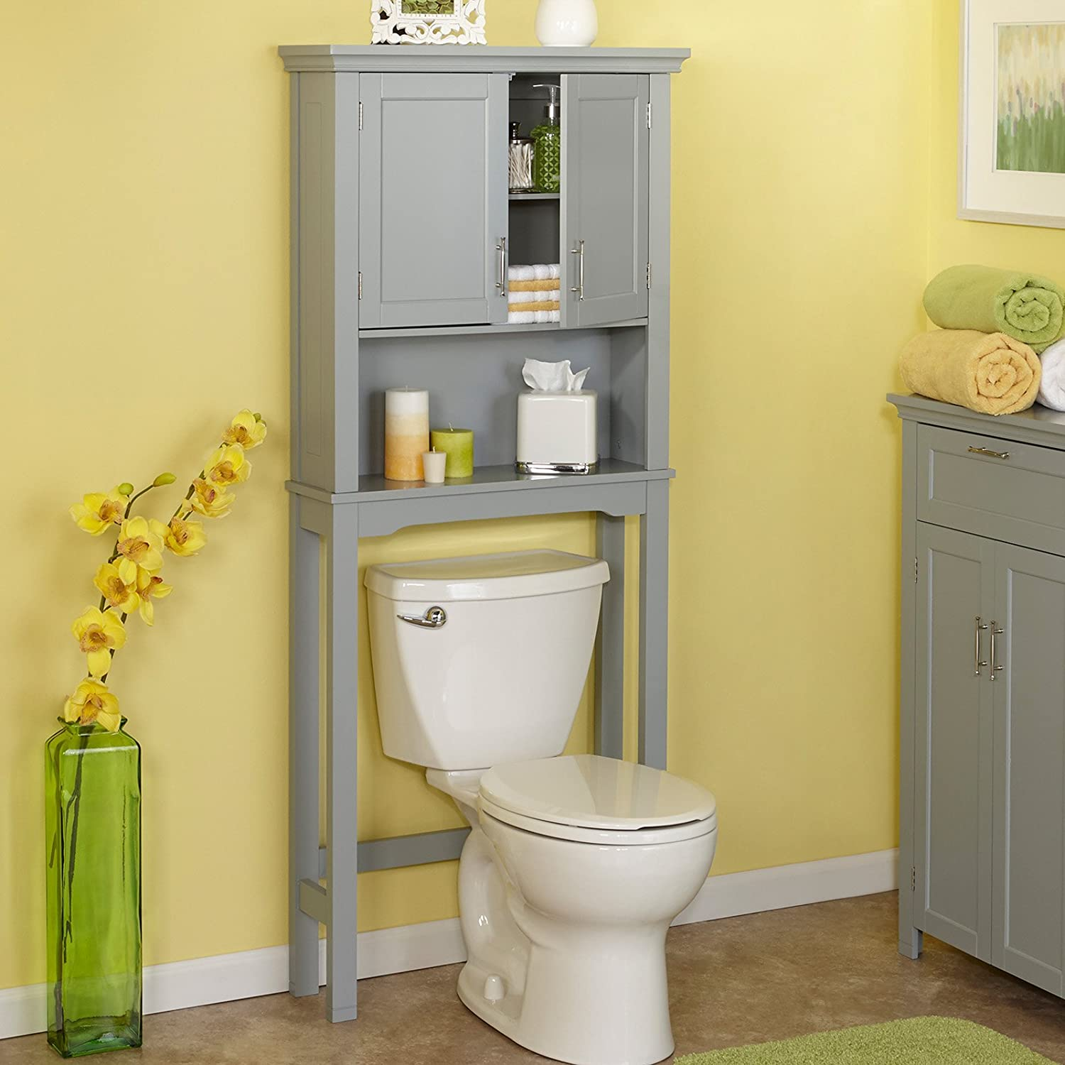 Amazon Spacesaver Over Toilet Cabinet in Gray Home & Kitchen
