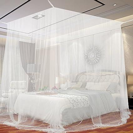 Tettuccio per zanzariera per letti matrimoniali, JTDEAL Zanzariera in  poliestere anti zanzara con repellenti per