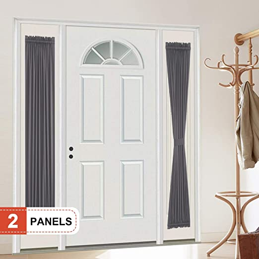 Home French Door Curtains Thermal Single Door Curtain Panel Blackout Drapes