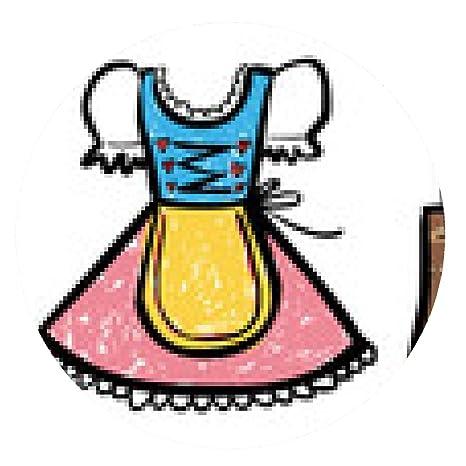 alfombrilla de ratón Dibujo coloreado de Dirndl / Lederhosen: Amazon.es: Electrónica