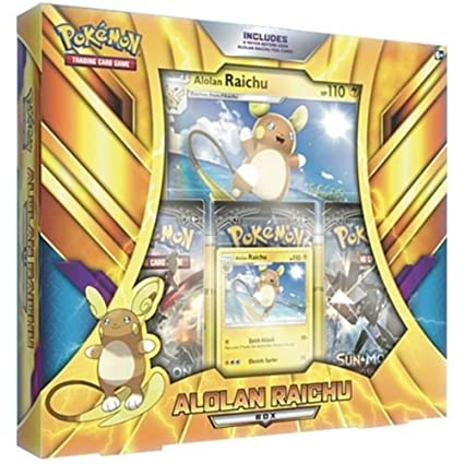 Amazon.com: Pokemon POC490 Alolan Raichu Box: Toys & Games