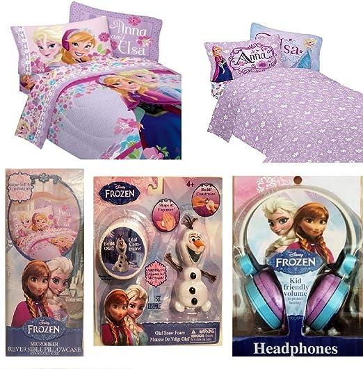 Disney congelado Twin Size Colcha y juego de sábanas adicional ...