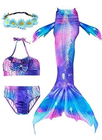 Amazon.com: Juego de 4 piezas de traje de baño para niñas ...