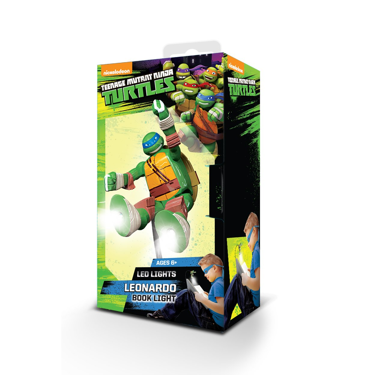 Teenage Mutant Ninja Turtles Adjustable Book Light with Clip - Leonardo