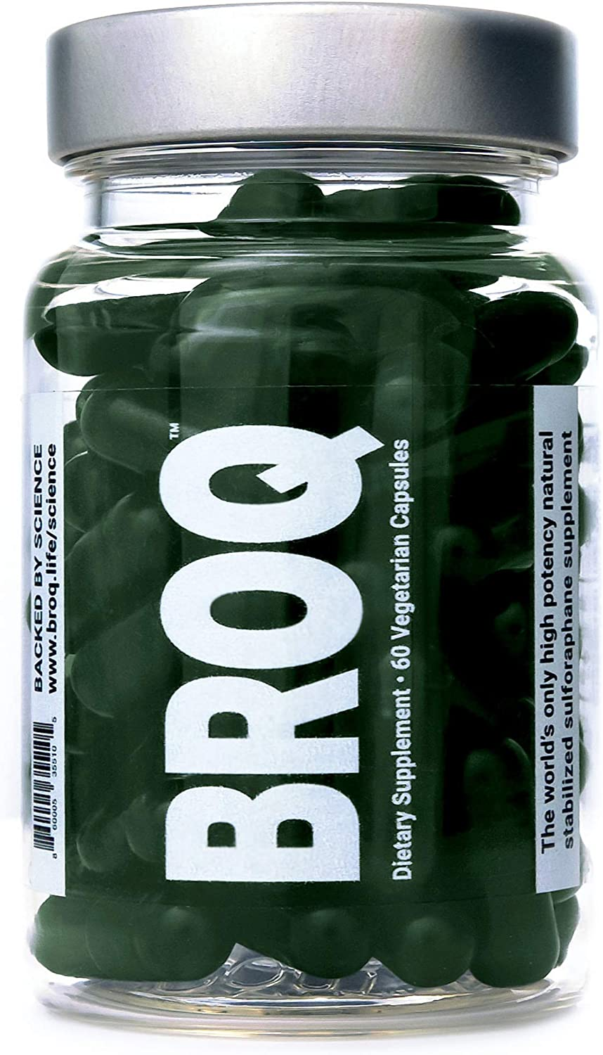 BROQ - The Gold Standard of Sulforaphane Supplements - More Than 2X Any Other Product - See Independent Lab Tests - The World's Only High Potency Natural Stabilized Sulforaphane - Just Launched in US