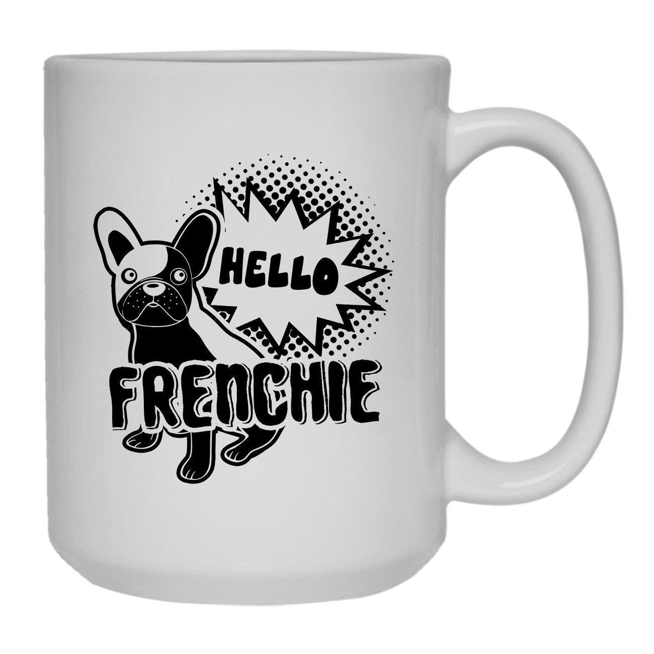 Amazon com: Hello French Bulldog Coffee Mug, Dark Roast Coffee Mug