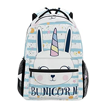Amazon.com: ZOEO Laptop Backpacks Cute Bunny Unicorn Striped Star Girls Women Travel Daypack Bag Purse for Girls Women: ZOEO