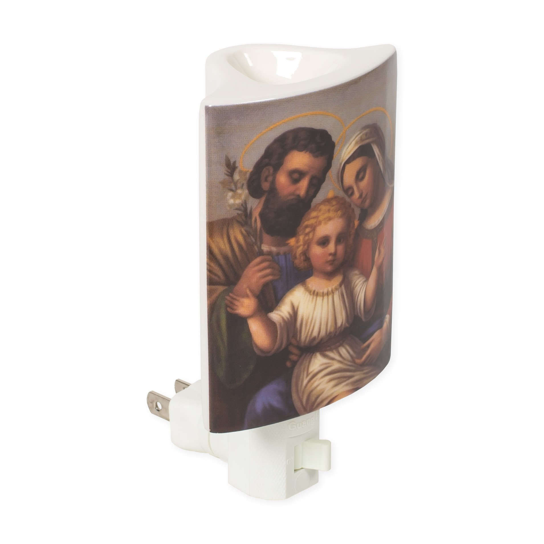 Holy Family Vintage 3 x 5.5 Porcelain Electric Wall Plug-In Oil Burner Night Light